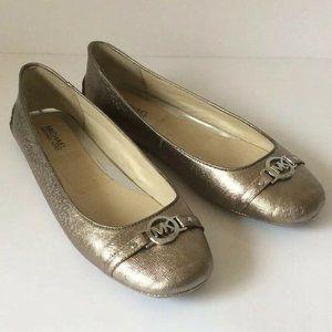 MICHAEL KORS Ballet Flats Metallic Gold 11M